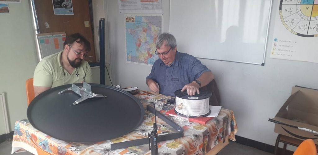 Antenne Satelitte F8KHW Radio-Club de Harnes - 3